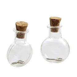Mini steklenički z zamaški 19,2x10x24mm 2 kosa