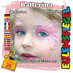 Komplet barv za poslikavo obraza Balerina