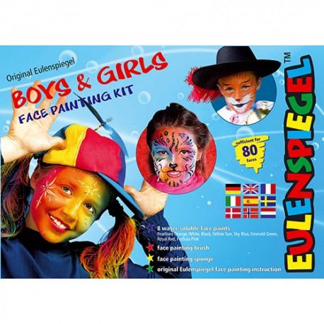 Komplet barv za poslikavo obraza Dečki in deklice