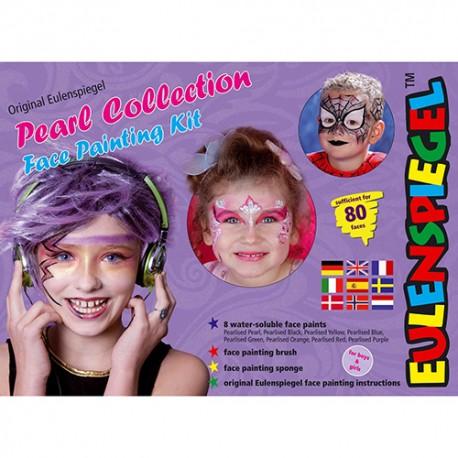 Komplet barv za poslikavo obraza Perla barve