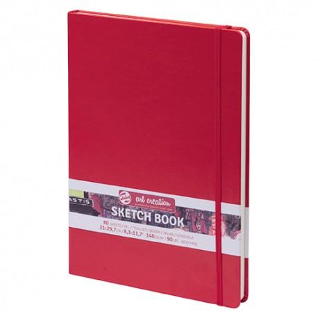 Talenc AC Rdeča skicirka trde platnice 140g, 80 listov