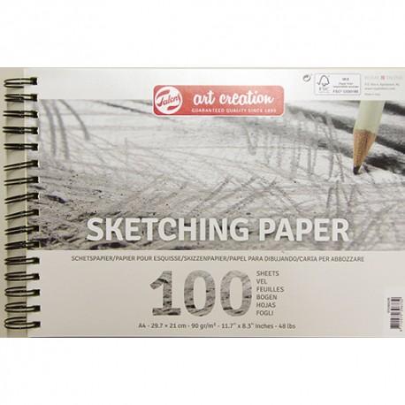 Talens AC skicirka 90g. 100 listov, špirala