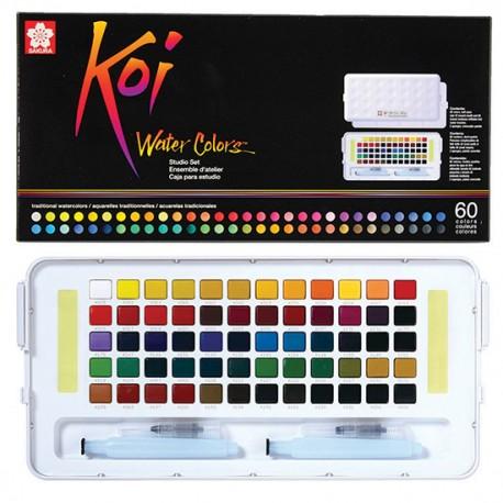 Sakura Koi akvarelne barve set 60 + vodni čopič