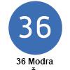 Pigma micron čopič, 36 Modra (art. XSDK-BR36)
