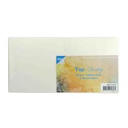 Voščilnice 220g. + kuverte 120g. 135x135mm, 50kos Ivory