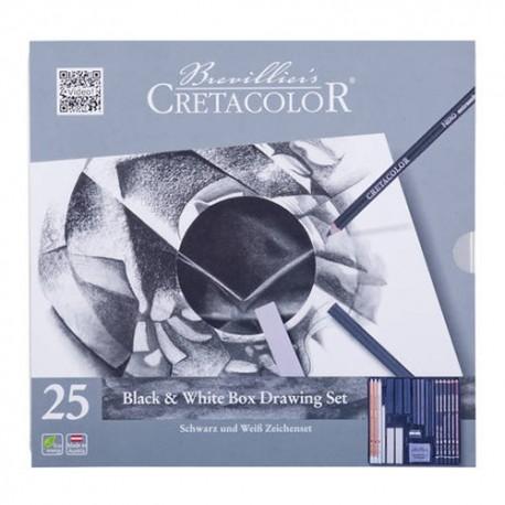 Cretacolor Black & White set 25 delni