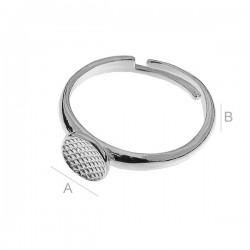 Osnova za prstan ploščica premer 7,5mm