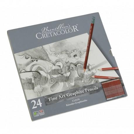 Cretacolor grafitni svinčnike set 24 od 9H-9B