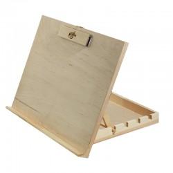 Namizno stojalo z leseno škatlo 44x30x34cm