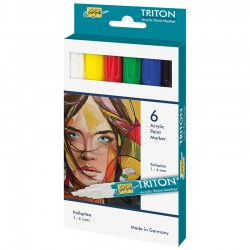 Triton akrilni marker 1-4mm set 6