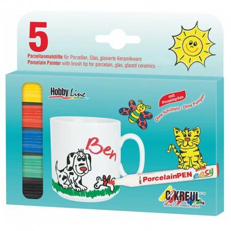 Flomastri za Porcelan za otroke set 5