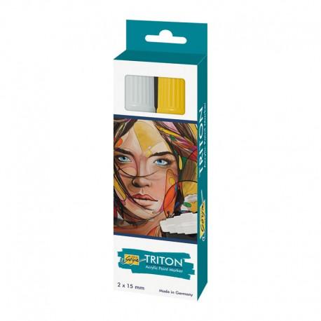 Triton akrilni marker 15mm set Srebrna, Zlata