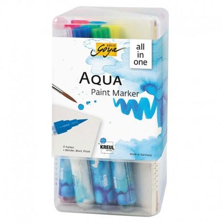 Triton Aqua paint markerji Powerpack 17+blok