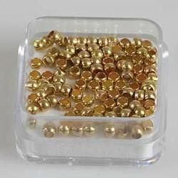 Štoparji 2,5mm, set 100, zlate b.