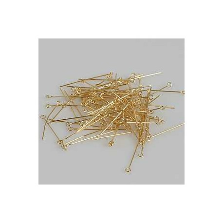 Palčka za uhane 32mm, set 100, zlate b.