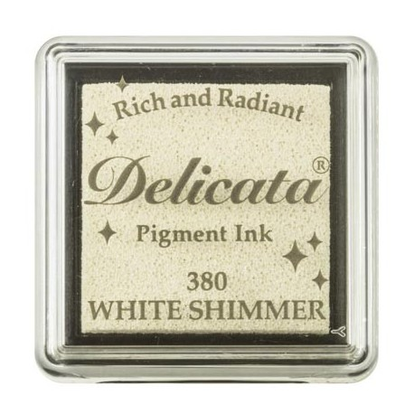 Tsukineko Delicata blazinica manjša Svetleča bela