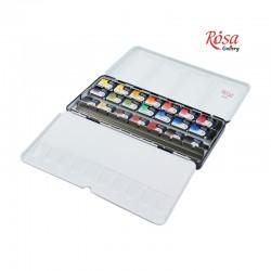 Rosa Gallery akvarelne barve set 21, kovinska embalaža
