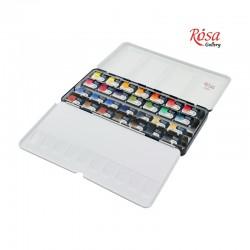 Rosa Gallery akvarelne barve set 28, kovinska embalaža