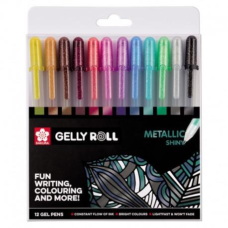 Gel roll Metalni set 12