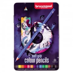 Bruynzeel barvni svinčniki 12 Trikotne oblike, mehak oprijem