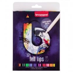 Bruynzeel flomastri set 12 temna embalaža