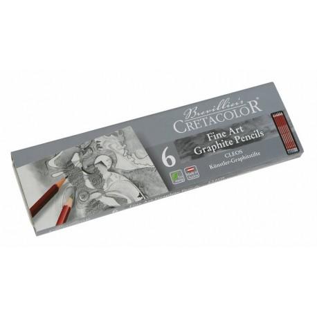 Cretacolor grafitni svinčnike set 6 2H-8B