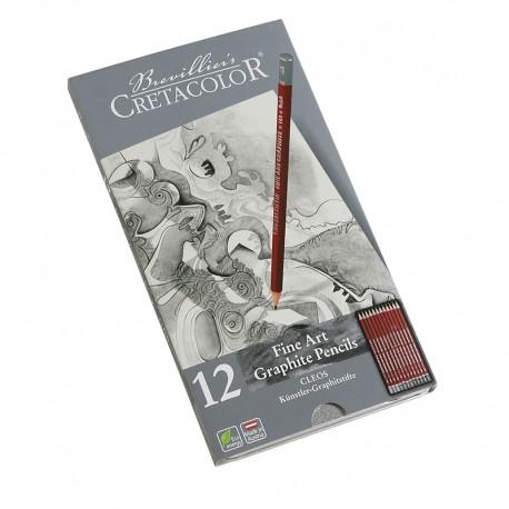 Cretacolor Grafitni svinčniki set 12 9B-6H
