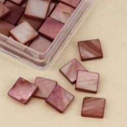 Mozaik školjka biserna matica bordo 10 x 10mm 40kos