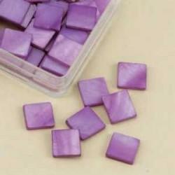 Mozaik školjka biserna matica vijolična 10 x 10mm 40kos