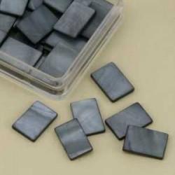 Mozaik školjka biserna matica siva 15 x 20mm 20kos
