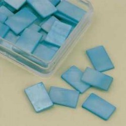 Mozaik školjka biserna matica modra 15 x 20mm 20kos
