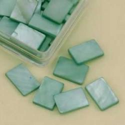 Mozaik školjka biserna matica temno zelena 15 x 20mm 20ko