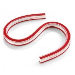 Fleksibilno ravnilo za krivulje rdeče 30cm