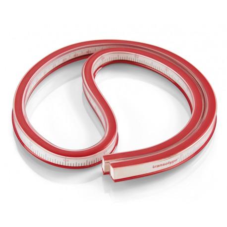 Fleksibilno ravnilo za krivulje rdeče 60cm