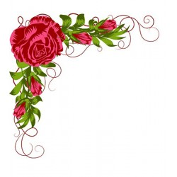 Nellies Štampiljke slojne Kotne vrtnice 70 x 67mm 4 kosi
