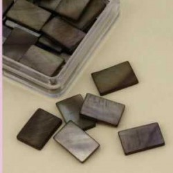 Mozaik školjka biserna matica temno rjava 15 x 20mm, 20ko