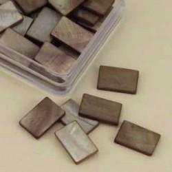 Mozaik školjka biserna matica svetlo rjava 15 x 20mm 20ko