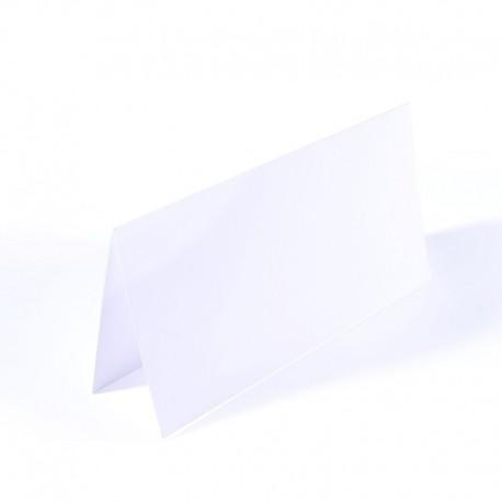 Voščilnice dvojne 200g. 11 x 22cm Bele 25 kosov