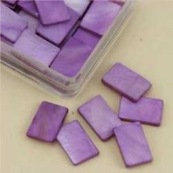 Mozaik školjka biserna matica vijolična 15 x 20mm 20kos