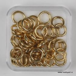 Zaključni obroček 6mm trši zlate b. 50kos