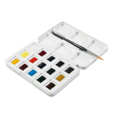 Van Gogh akvarelne barve 12 + čopič + 3 dodatne barve