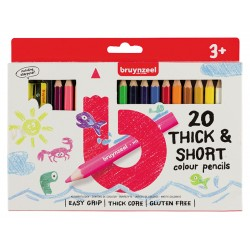 Bruynzeel barvni svinčniki kratki-debeli set 20