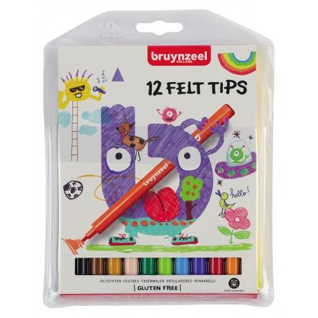 Bruynzeel flomastri set 12