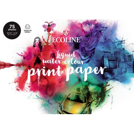Ecoline papir blok 21 x 29,7cm A4 150g. 75 listov