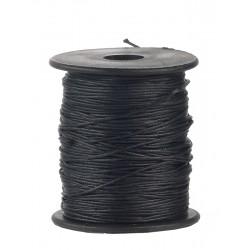 Povoščena tekstilna vrvica 1mm x 80m, Črna