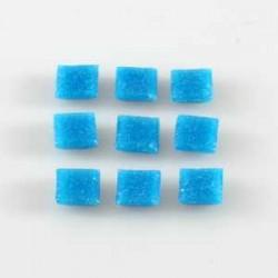 Steklen mozaik 10 x 10mm, Modra 125g. ca 180 kosov