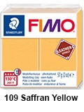 Fimo leather effect saffran yellow (8010-109)