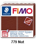 Fimo leather effect nut (8010-779)