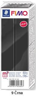 Fimo Soft 450g. 9 Črna (8021-9)