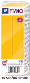 Fimo soft 450g. 16 Sončno rumena (8021-16)
